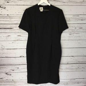 Leslie Fay Black vintage short sleeve dress 18